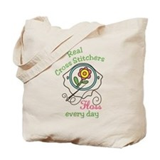 Real Cross Stitchers Tote Bag