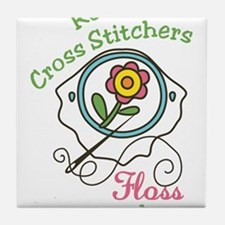 Real Cross Stitchers Tile Coaster