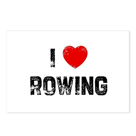 I * Rowing Postcards (Package of 8)