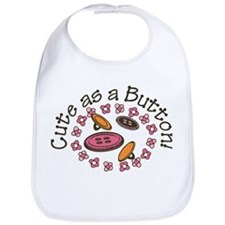 Cute As A Button Bib