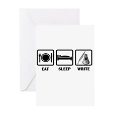 Eat, Sleep, Write Greeting Card