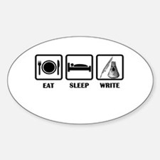 Eat, Sleep, Write Decal