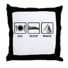 Eat, Sleep, Write Throw Pillow
