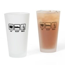 Eat, Sleep, Write Drinking Glass
