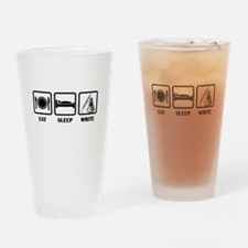 Eat, Sleep, Write Drinking Glass