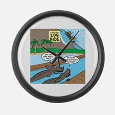Alligator Hunting Large Wall Clock