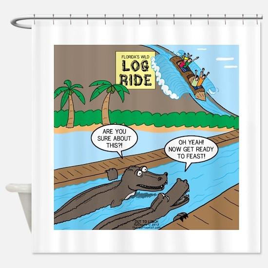 Alligator Hunting Shower Curtain