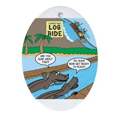 Alligator Hunting Ornament (Oval)