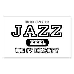 Jazz University Rectangle Sticker