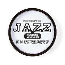 Jazz University Wall Clock
