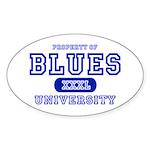 Blues University Oval Sticker