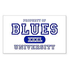 Blues University Rectangle Decal