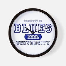 Blues University Wall Clock