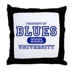 Blues University Throw Pillow