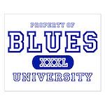 Blues University Small Poster