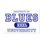 Blues University Mini Poster Print