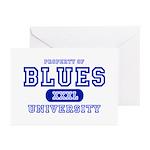 Blues University Greeting Cards (Pk of 10)