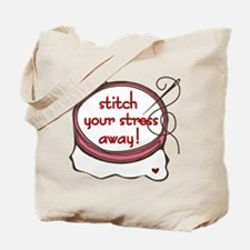 Stitch Your Stress Away Tote Bag