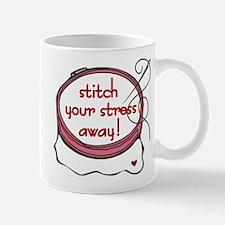 Stitch Your Stress Away Mug