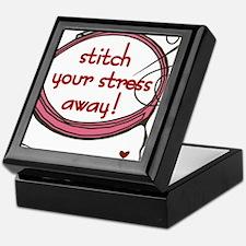 Stitch Your Stress Away Keepsake Box
