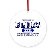 Blues University Ornament (Round)