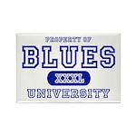 Blues University Rectangle Magnet