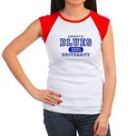Blues University Women's Cap Sleeve T-Shirt