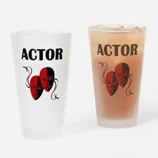 Actor Masks Drinking Glass