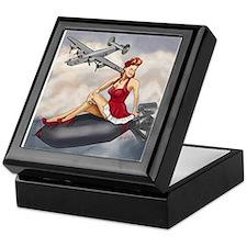 Bomber Girl WWII Pin-Up Keepsake Box