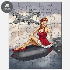 Bomber Girl WWII Pin-Up Puzzle