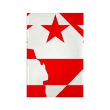 DC Borders Inverted Rectangle Magnet