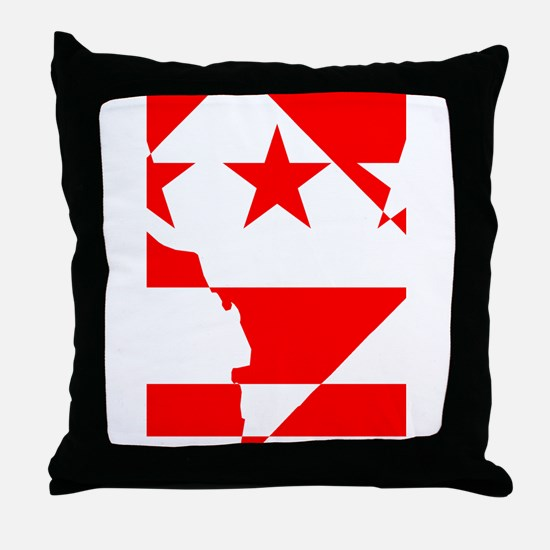 DC Borders Inverted Throw Pillow