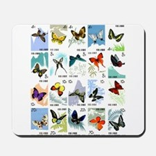 Vintage 1963 China Butterflies Postage Stamp Set M