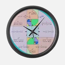Golden Ratio Math Clock Large Wall Clock