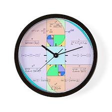 Golden Ratio Math Clock Wall Clock