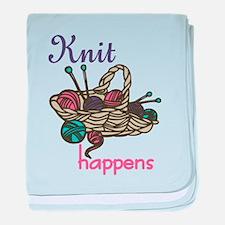 Knit Happens baby blanket