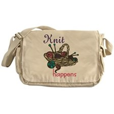 Knit Happens Messenger Bag