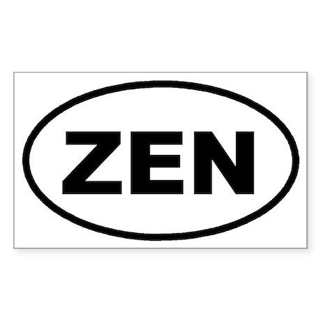 ZEN Euro Oval Sticker