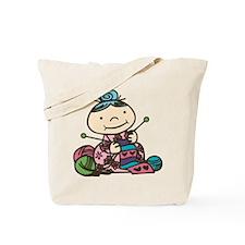 Knitting Grandma Tote Bag