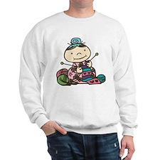 Knitting Grandma Sweatshirt