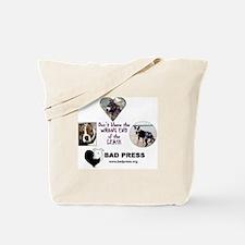 BAD PRESS Pit Bull Tote Bag