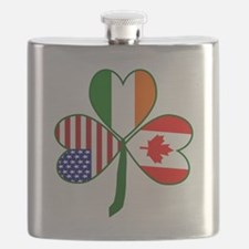 Shamrock of Canada Flask