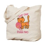 Cat knit Canvas Totes