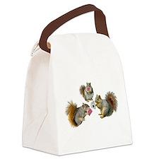 Squirrels Poker Canvas Lunch Bag