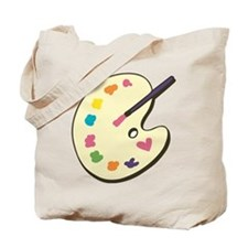 Paint With Love Tote Bag