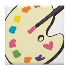 Paint With Love Tile Coaster