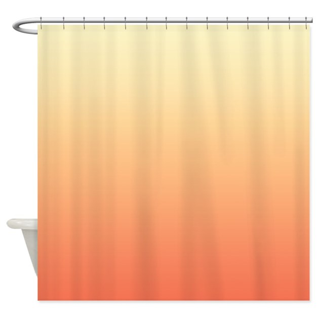 Peach Shower Curtain by CopperCreekDesignStudio