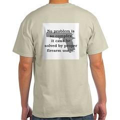 Proper Firearm Usage Back Ash Grey T-Shirt