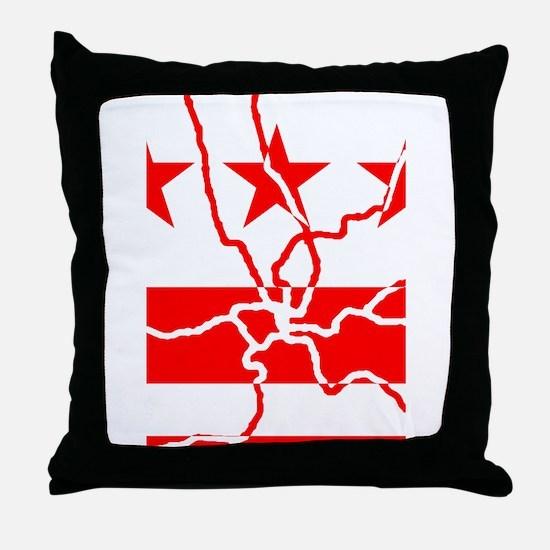 DC Metro Inverted Throw Pillow