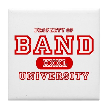 Band University Tile Coaster